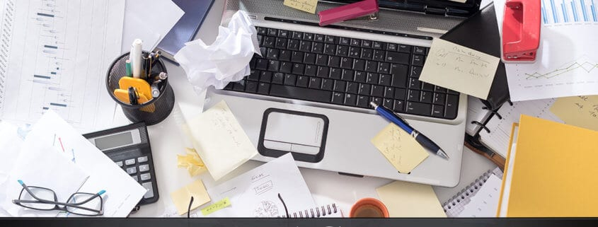 improve productivity by cleaning your workspace